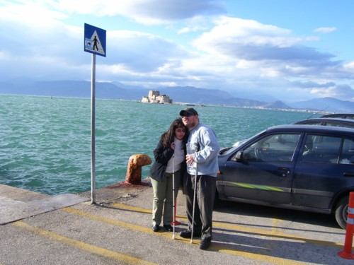 Tony and Tatiana with harbour