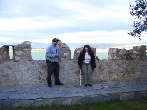 Tony and Tatiana on top of Bourtzi Tower.