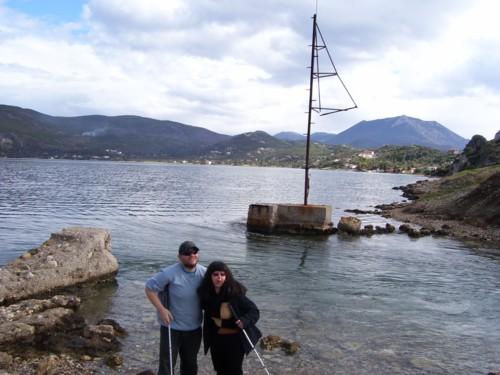 Tony and Tatiana by Lake Heraeon. Sunday 31st January.