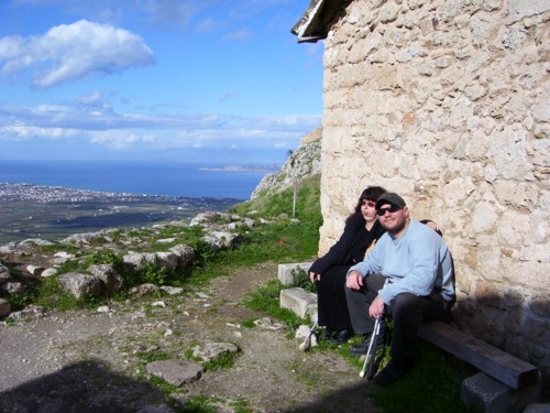 Tony and Tatiana at Castle of Ancient Korinth, in Southern Greece.