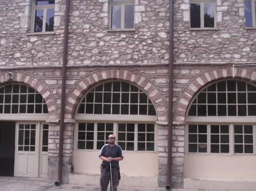 Tony outside St. Dimitrija Church.