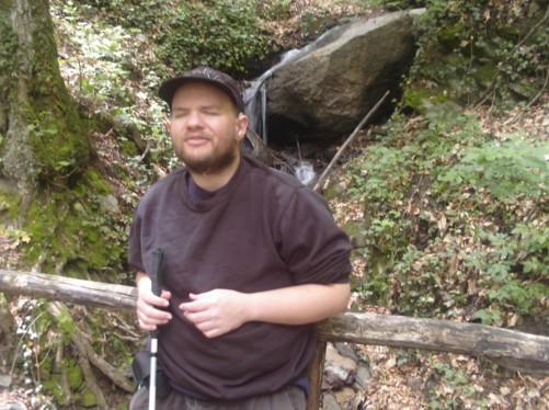 Tony in the forest near Smolar Waterfall.
