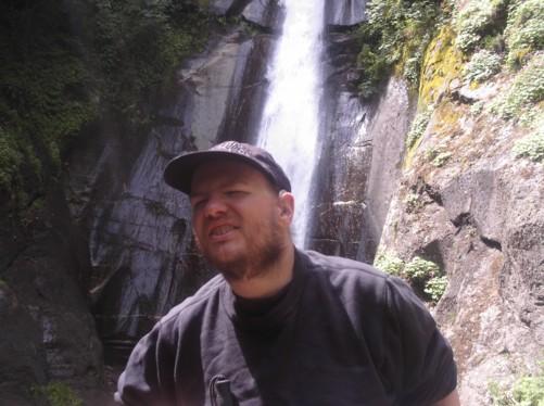 Tony at Smolar Waterfall.