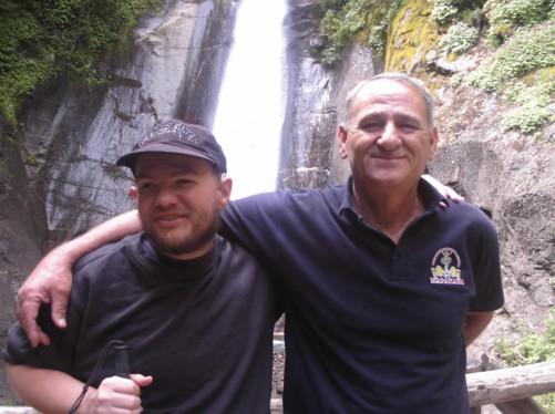 Tony and Stephen at Smolar Waterfall.