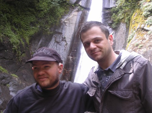 Tony and Sashka at Smolar Waterfall.