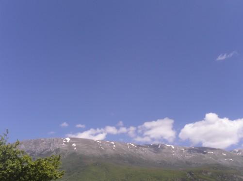 View towards Mount Galicica National Park.