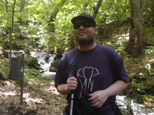 Tony in Strumica National Park near Kolosino Waterfall.