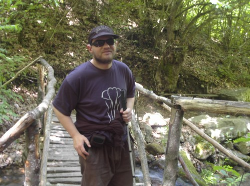 Wooden bridge near Kolosino Waterfall.