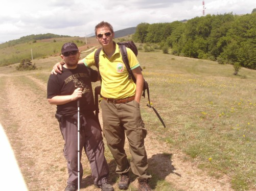 Tony and his guide Petar in the Krusevo hills.
