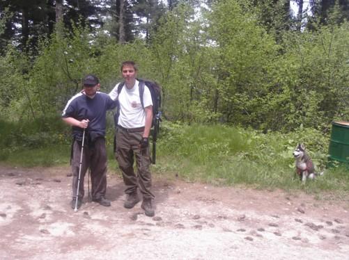 Tony and his guide Petar.