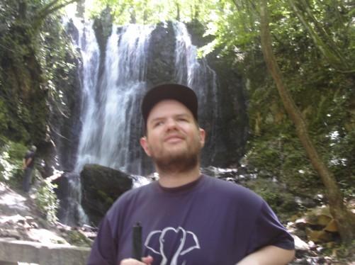 Tony at Kolosino Waterfall.