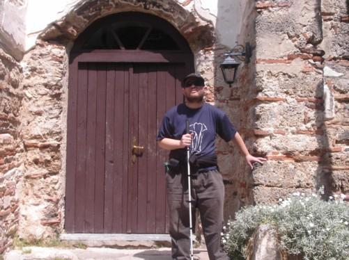 Tony outside Vodoca Monastery (St. Leontius).