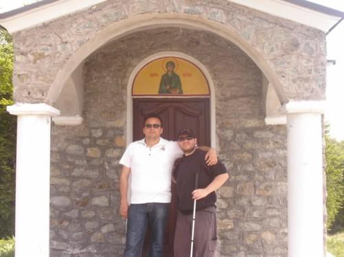 Outside the chapel.