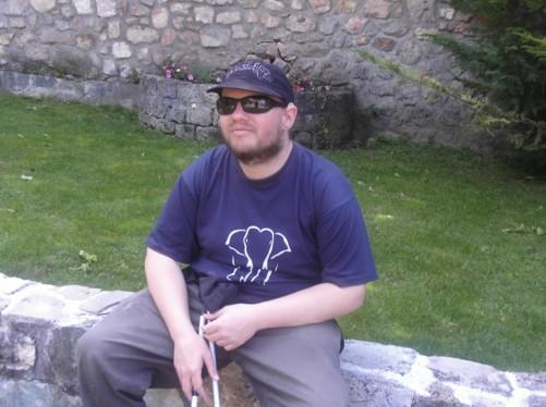 Tony in the grounds of Vodoca Monastery.
