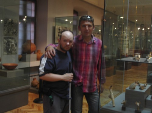 Tony and Pece, Archaeology Museum.
