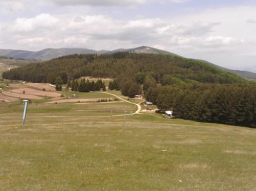 A ski slope in the hills above Krusevo.