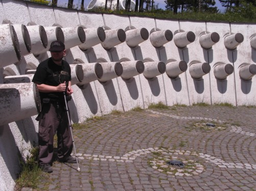 Tony at the Makedonium-Ilinden Memorial, which remembers soldiers who died in the 1903 Ilinden Uprising against the Ottoman Turks, who then controlled the region.