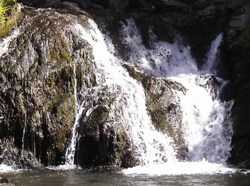 Waterfall on the Dragus river.