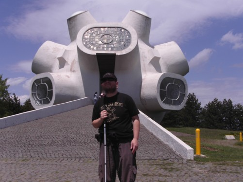 Tony at the Makedonium-Ilinden Memorial.