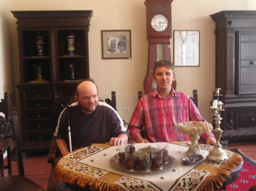 Tony and Pece in the Old City Room, Bitola Museum and Visiting Institute.