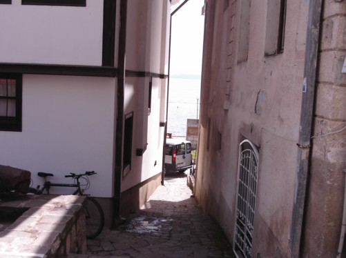 Narrow street in the old town.