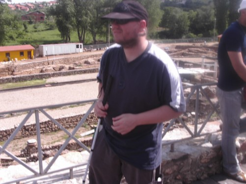 Tony at the remains of the ancient city of Heraclea.