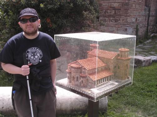 Tony by a model of St. Sofia Church.