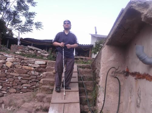 Tony on ramp. Ancient city of Heraclea, Bitola.