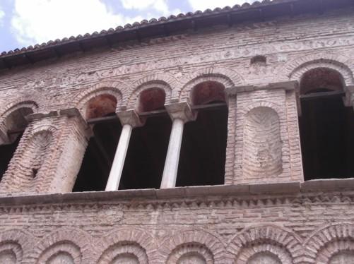 Columns outside St. Sofia Church.
