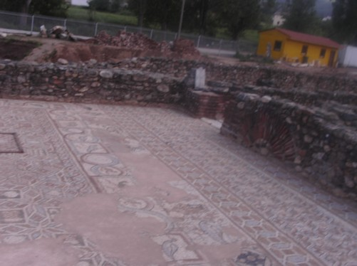 Mosaic floor. Ancient city of Heraclea, Bitola.
