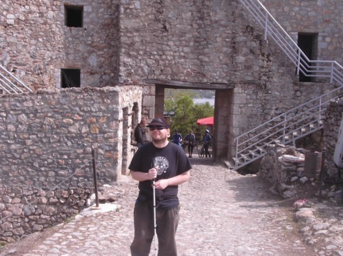 Tony inside King Samoil Fortress.