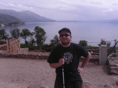 Pleasant view of Lake Ohrid from near St. Clement (St. Panteleimon) church.