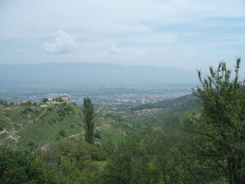 Nice views of Skopje from Mount Vodno.