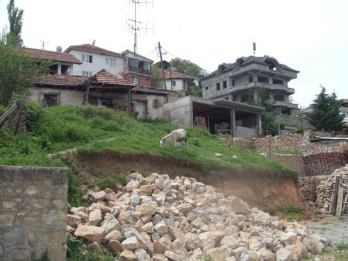 A village on the slopes of Mount Vodno.