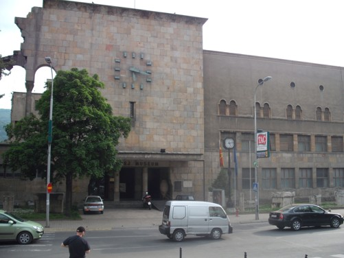 The old railway station, now the City Museum of Skopje.