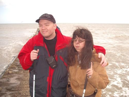 Tony and Tatiana, seafront, Dawlish.
