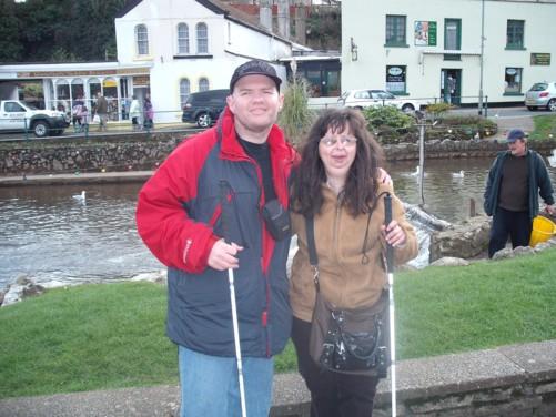 Tony and Tatiana, Dawlish park.