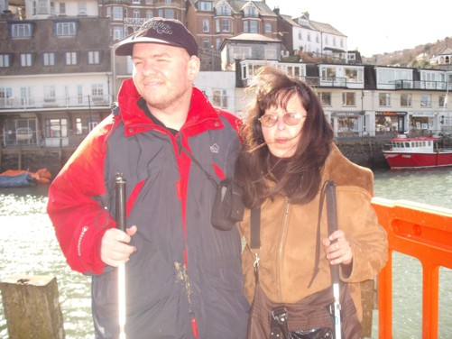 Tony and Tatiana, Looe river front, 7th April.