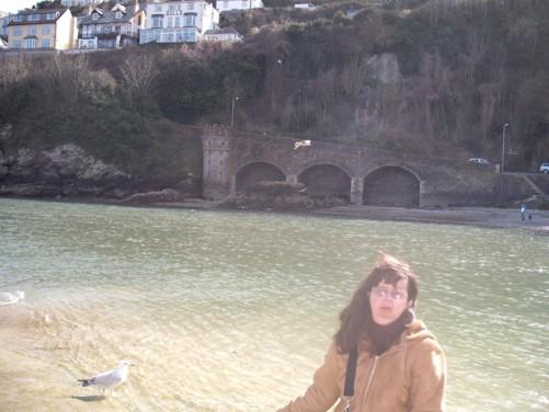 Tony and Tatiana, Looe river front.
