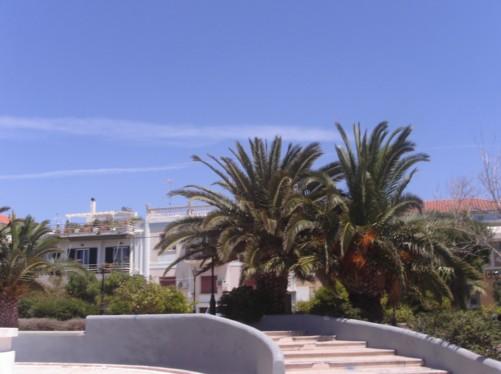 Park area in Aegina Town.