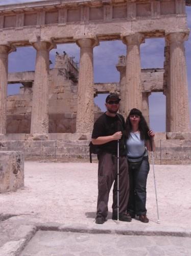 Tony and Tatiana at Athia Temple.