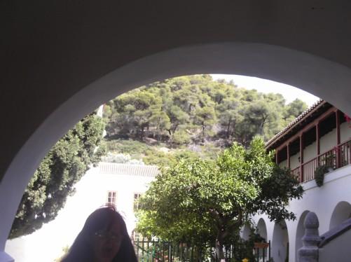 Tatiana at Zoodochos Pigi Monastery.
