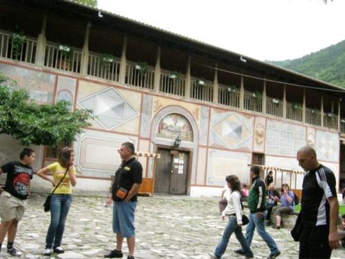 Inner courtyard of the monastery.