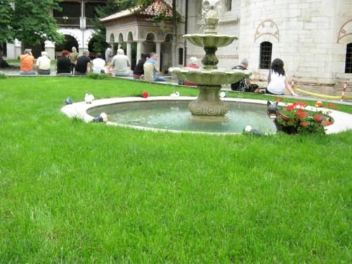 Fountain in the monastery inner courtyard.