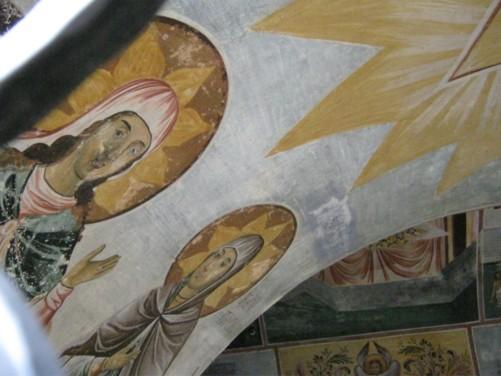 Frescos on ceiling.