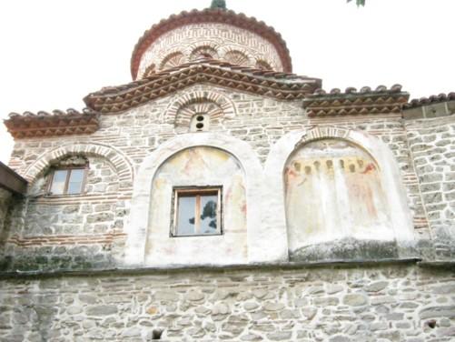 Outside the Monastery church.