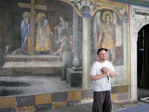 Frescoes in Church of Sveti Konstantin and Elena.