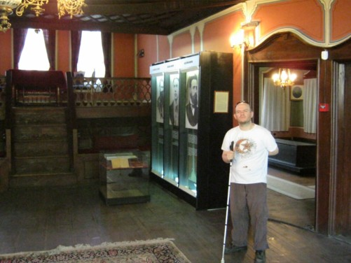 Tony inside the Historical Museum.