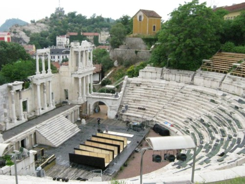 View into amphitheatre.