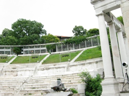 View from the amphitheatre's stage.